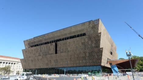 Smithsonian National African American Museum of History and Culture in progress.