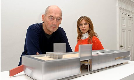 Rem Koolhaas/OMA with the Garage museum's founder