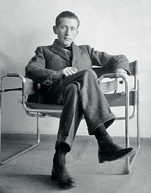 Marcel Breuer in his own chair, the Wassily chair