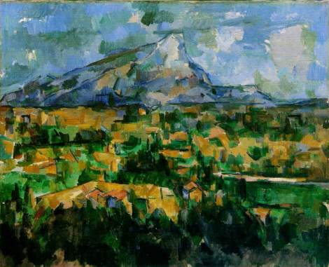 Cezanne's Mont St Victoire 1902 was painted just outside Aix-en-Provence. His atelier is still there. We'll be visiting it.