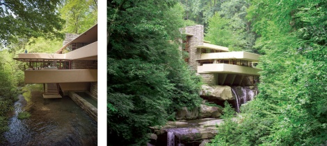 One of Wright's great residential masterpieces. Left: courtesy Jonathan Lin via Flickr; right, courtesy Tsuji, via Flickr