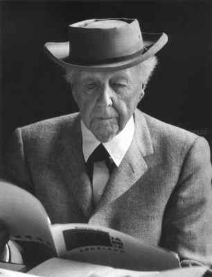 Frank Lloyd Wright,. Courtesy of Phi Delta Theta