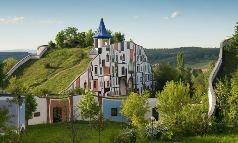 Hotel and spa by Hundertwasser intentionalart via Creative Commons