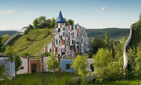 Hotel and spa by Hundertwasser intentionalart via Creative Commons