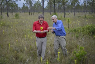 Dr. Edward O. Wilson (right),scientist, humanitarian and author of 32 books. Photo courtesy of Carlton Ward.