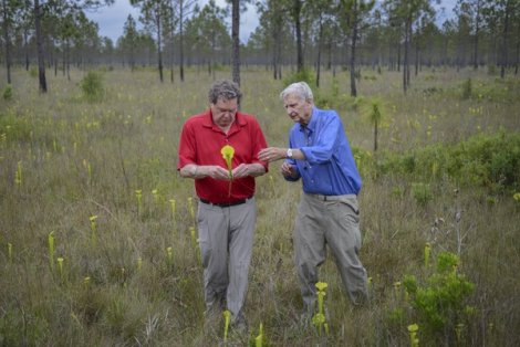 Dr. Edward O. Wilson (right),scientist, humanitarian and author of 30+ books. Photo courtesy of Carlton Ward