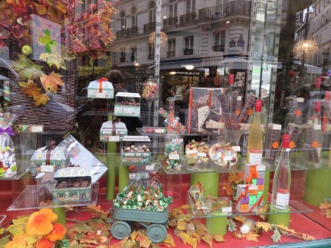Chocolates and candy displayed in Paris's 9th arrondissement on the Blvd Montmartre. (Roberta Faul-Zeitler, CC 3.0)