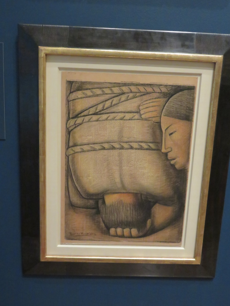 Bondage - a painting by Martinez in the standout exhibition, Art of the Mexican Revolution at the Philadelphia Museum of Art. A sober reminder that while much has changed, millions of people still need to cast their shackles and be free. (Courtesy of the PMA, photo by Roberta Faul-Zeitler, CC 3.0)