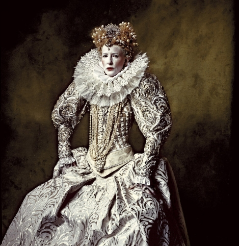 Cate Blanchett as Elizabeth. Portrait by Irving Penn (from Stoppers)