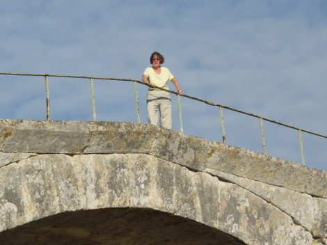 Happy new year! Standing on the 2,000-year-old Pont Julien, built by Romans and used by traffic until a few years ago! (H. Zeitler, CC 3.0)