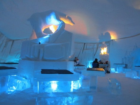 The restaurant in Snow Village.--the largest igloo dome in Europe. Photo by Aik Meeuse, Creative Commons 3.0