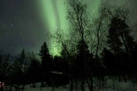 Aurora borealis at Ukonjärvi-Inarijärvi, Finland.