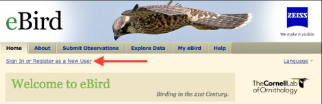 eBird site allows you to enter data -- on the go!