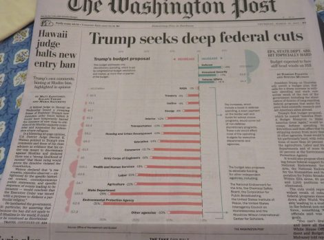 Front Page Washington Post, March 16 2017. Credit Washington Post