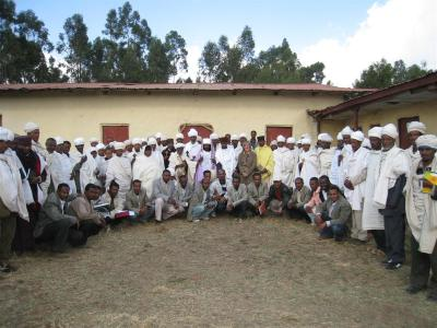 Group shot Coptic Church project Ethiopia