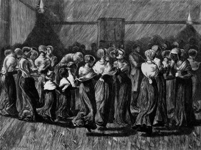 Shakers performing dance in 1870 Credit Getty Images