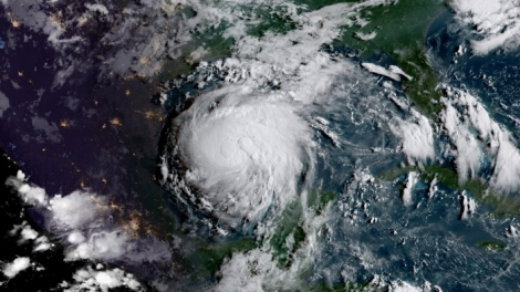 Hurricane Harvey from space. Courtesy of NOAA