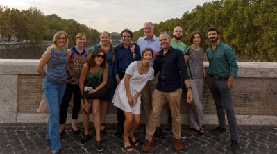 Tevereterno team on the Tiber River. Courtesy of Tevereterno