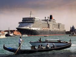 Venice waterfront cruise ship