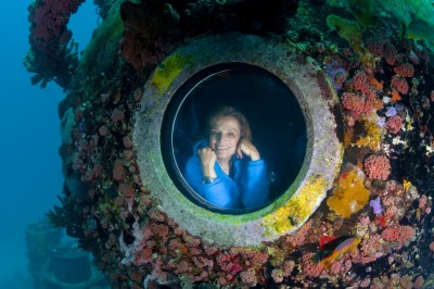 Sylvia Earle. Photo copyright by Kip Evans.