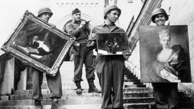 Monuments Men recover artwork. Courtesy CBS News