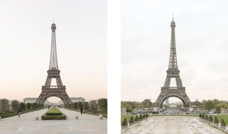 Can you spot which is the Chinese Tour Eiffel and which is the authentic tower? Photo courtesy Paris Syndrome