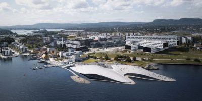 Two gentle sloping domes for the new Oslo Aquarium by Haptic, scheduled for 2020