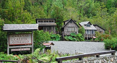 Cabins at Pumalin National Park. Courtesy of the Foundation.