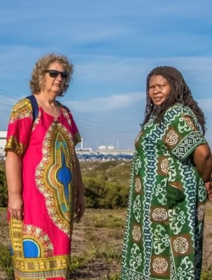 Liz McDaid (left) and Makoma Lekalakala