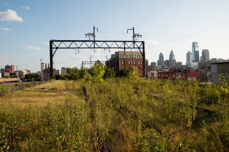 Abandoned Reading Viaduct before work began on the Rail Park. Photo by Brian Collerd (New York Times)