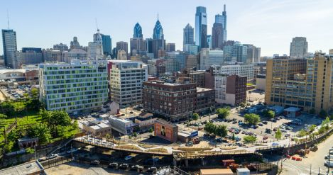 Phase 1 of the Philadelphia Rail Park, opened June 14. Courtesy of the Friends of the Rail Park.
