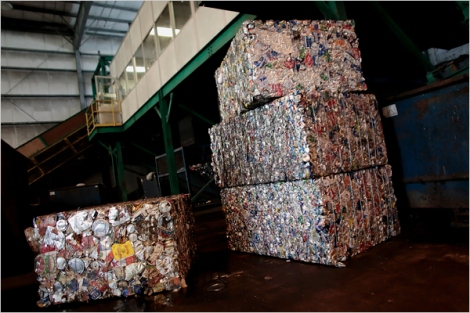 Recycled materials bound for recycling facility (2009)
