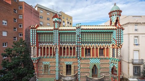 Gaudi's Casa Vicens features elaborate tile and decorative elements inside and out. Photo courtesy of Dezeen.