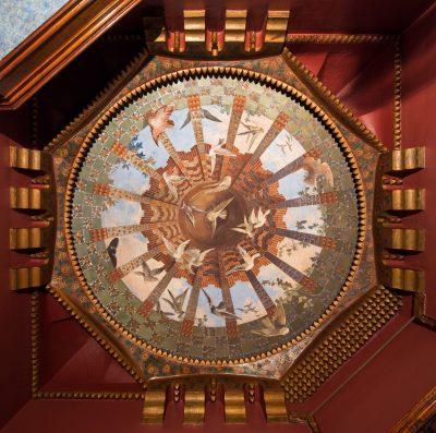 Elaborately decorated ceiling. Photo courtesy of Dezeen.
