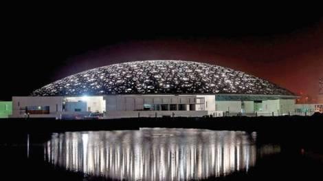 Louvre Abu Dhabi at night. Courtesy TDIC