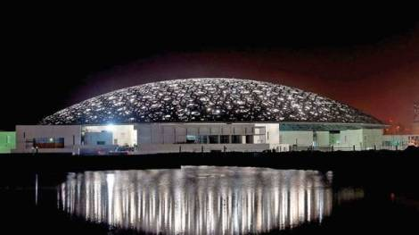 Louvre Abu Dhabi at night. Courtesy TDIC