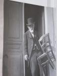 Paul Cezanne at his studio in Aix-en-Provence.