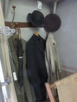 intimate reminders of the artist's studio -- his coats and hats hang on the wall. (All photos by Roberta Faul-Zeitler CC 3.0)