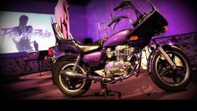 Prince's motorcycle at the Paisley Park studio-museum