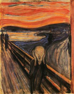 The Scream by Edvard Munch. Courtesy of the Munch Museum.