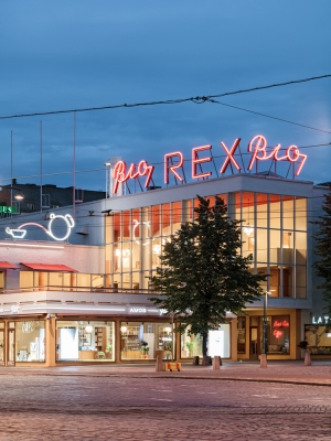 The below-ground museum is closeby the iconic Bio Rex movie theater. Photo copyright by Tuomas Uusheimo