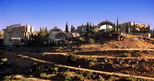 Landscape shot of Arcosanti