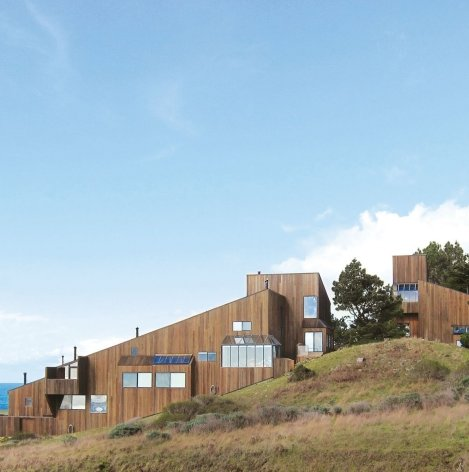 At Sea Ranch buildings were designed to be integrated into the landscape.