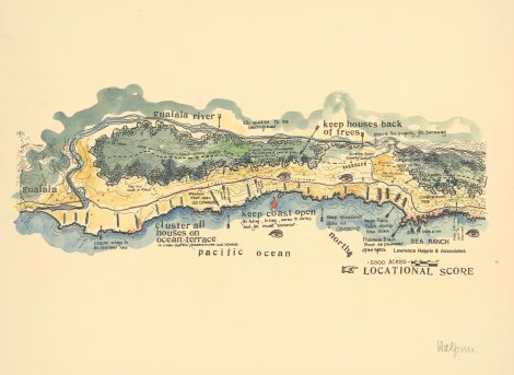 Sea Ranch, the original masterplan by Lawrence Halprin