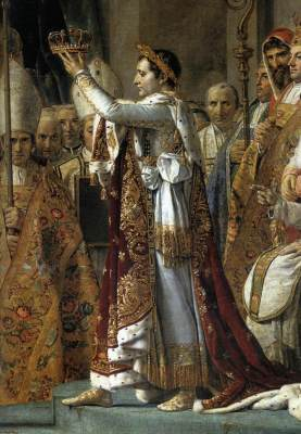 Consecration of the Emperor by Jacques-Louis David (detail). Courtesy of Wikipedia