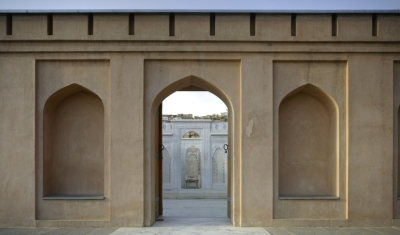 Restored grave of Babur in Kabul, Afghanistan. The garden and grave have been visited by 3 million people. Photo by Christian Richters