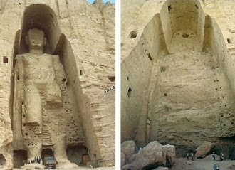 Buddhas of Bamiyan destroyed by the Taliban Courtesy of Save Antiquities.org