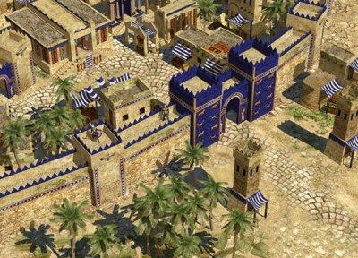 Graphic of the Ishtar Gate, Babylon