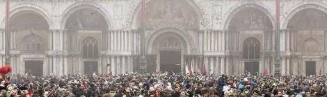 Crowd near San Marco, Venice. Photo by Alessandras Bianchi, Reuters.