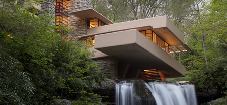 Fallingwater, the Kauffman House.